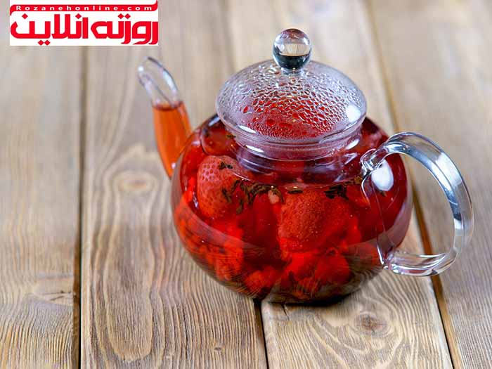 فواید چای توت فرنگی همراه با طرز تهیه