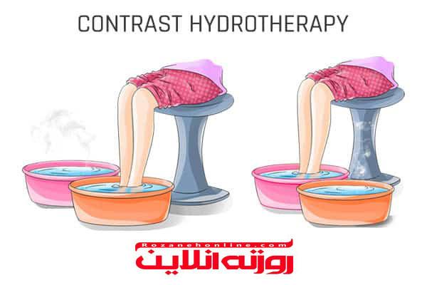 آب درمانی و سرکه  برای از بین بردن آرتریت انگشت پا