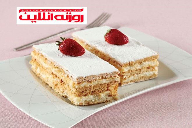 آموزش کیک میلفوی با طعم توت فرنگی