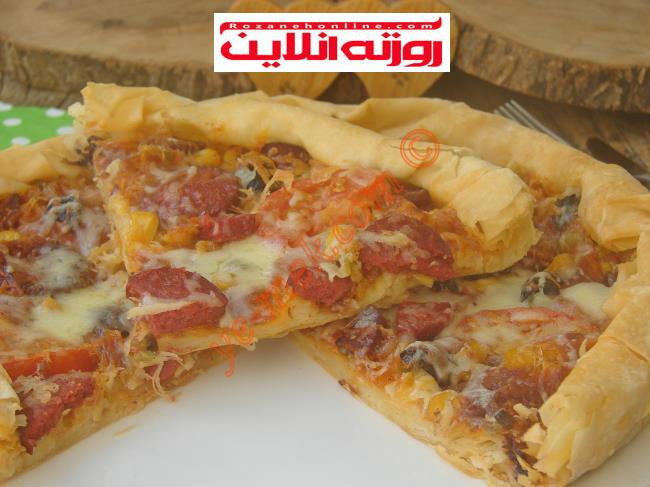 آموزش تصویری پیتزا با استفاده از خمیر یوفکا