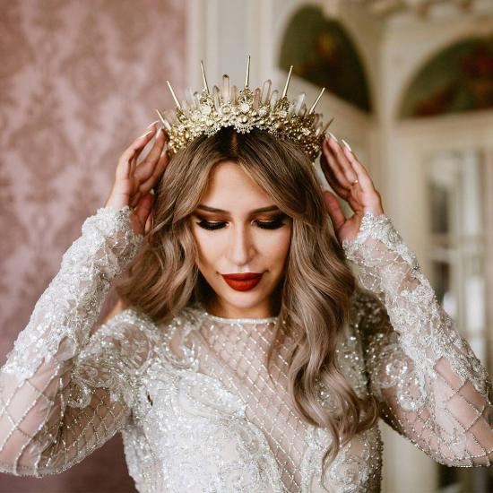 کالکشنی از مدل تاج عروس روی پیشانی خاص و جذاب