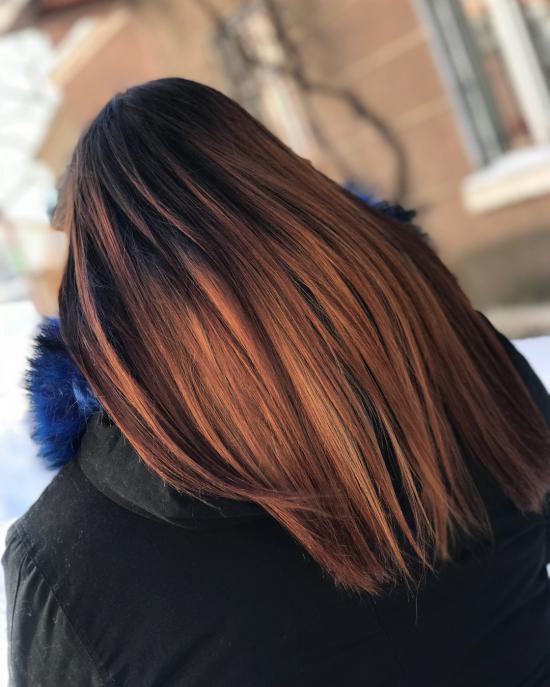 رنگ موی جدید امبره 2018 مجلسی و شیک + تصویر