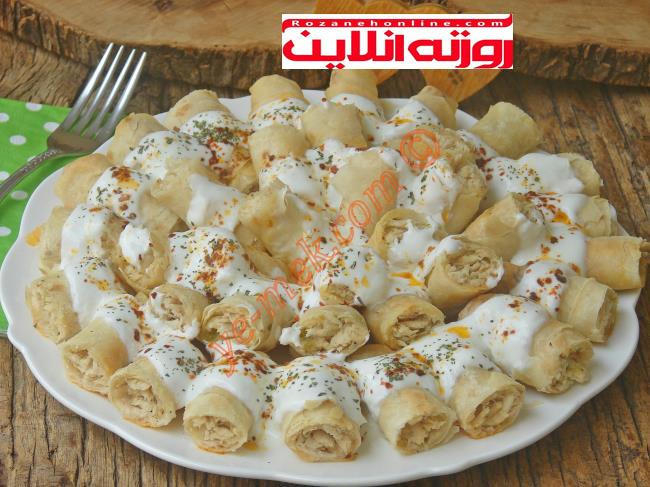 طرز تهیه مانتی مرغ با استفاده از خمیر یوفکا