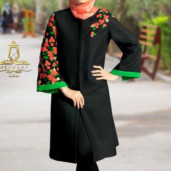 مدل مانتو بلند مجلسی ترکیه ای برای خانم های خوش پوش
