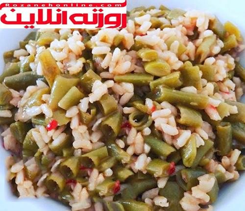 دیبله لوبیا سبز نوعی خوراک ترکیه