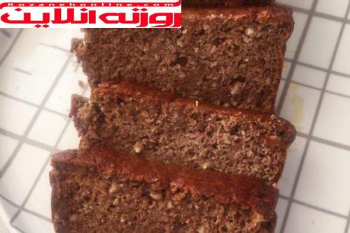 کیک رژیمی با موز سیاه