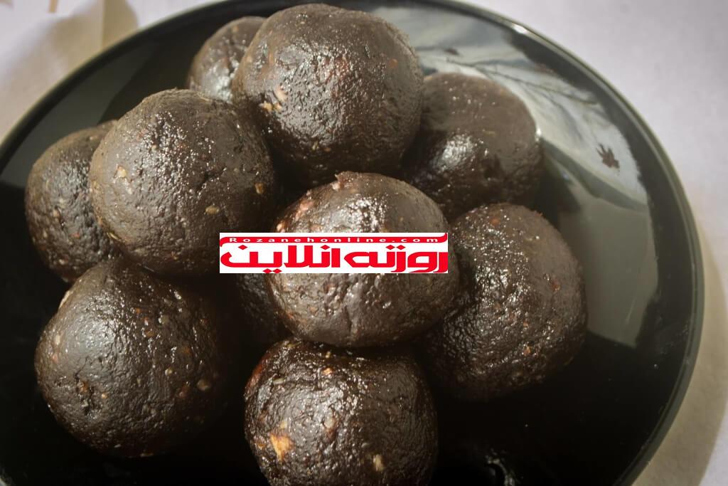 توپ های براونی بدون  استفاده از آرد و شکر