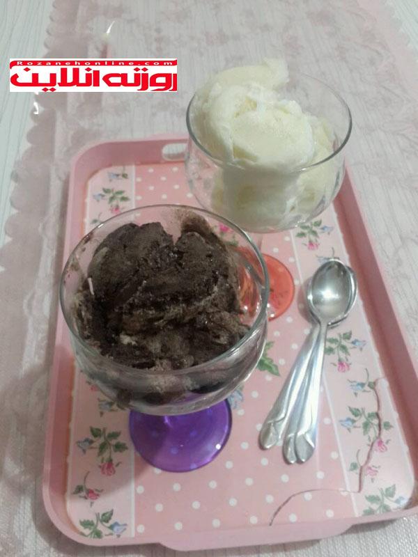 طرز تهیه بستنی با استفاده از کرم شانتی