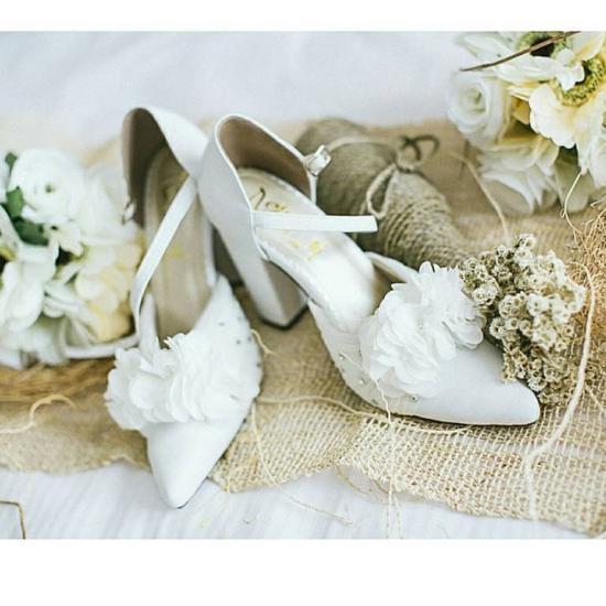 مدل کفش عروس سفید 2018 با انواع طرح های شیک و جذاب