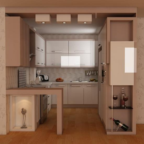 اپن آشپزخانه مدرن 2018 برای خانه های آپارتمانی کوچک و بزرگ (3)