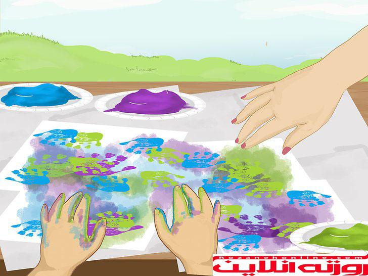 نحوه رنگ آمیزی با اسفنج برای بچه ها با آموزش تصویری