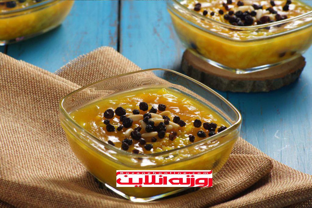 آموزش زرده نوعی دسر برای ماه رمضان