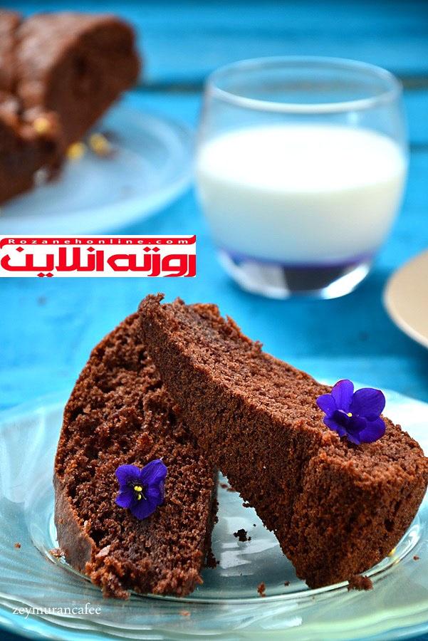کیک کاکائویی دوازه قاشقی