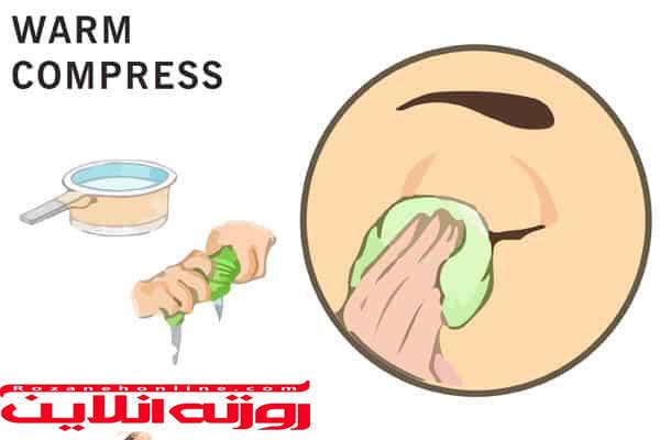 شستشوی چشم با آب نمک و کمپرس برای درمان درد چشم