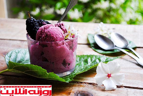 طرز تهیه بستنی توت سیاه