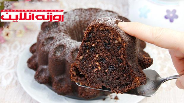 چگونه کیک شکلات و فندق درست کنیم ؟