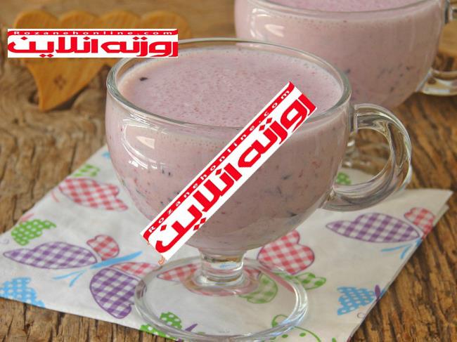 طرز تهیه شیر میوه با طعم میلک شیک