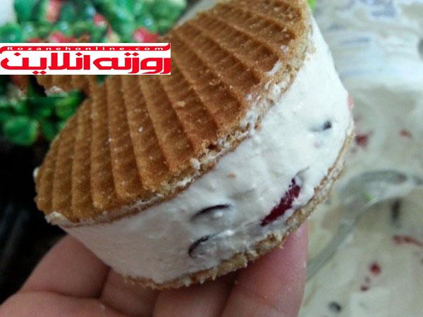 طریقه درست کردن بستنی نونی بیسکویتی