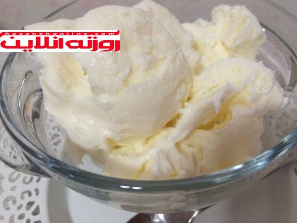 طرز تهیه بستنی بدون ثعلب و بدون نیاز به هم زدن