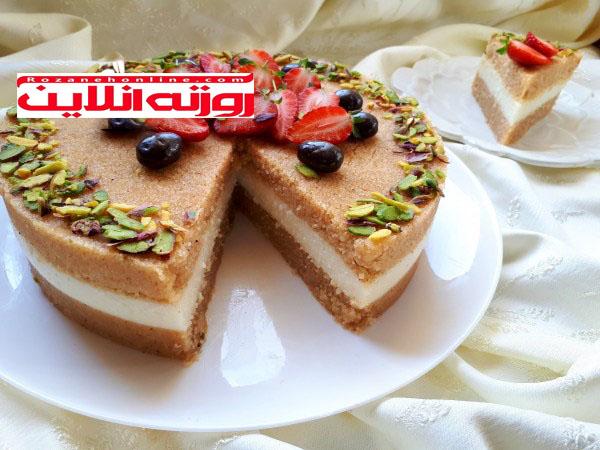 آموزش کیک حلوا با استفاده از ایرمیک