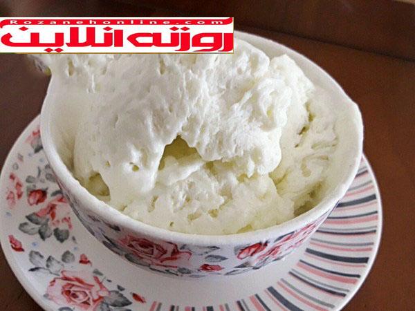 طریقه درست کردن بستنی خربزه