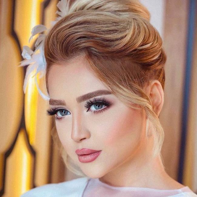 مدل آرایش و مو عروس جدید,مدل میکاپ عروس 2019,مدل میکاپ عروس 98,میکاپ عروس 2019,آرایش صورت عروس 2019,