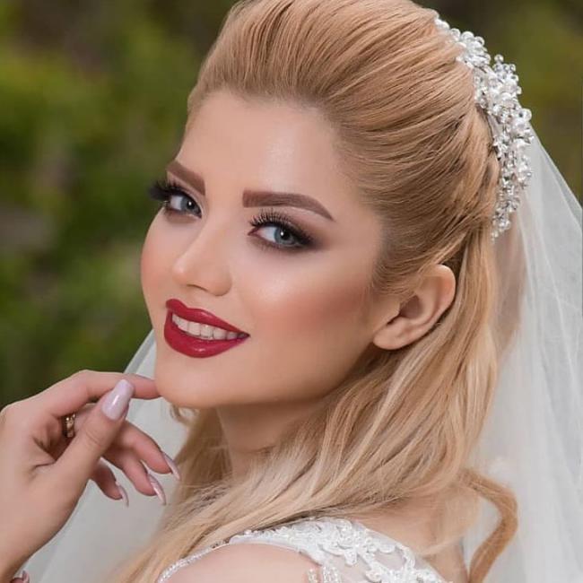 مدل میکاپ عروس جدید,مدل میکاپ عروس 2019,مدل میکاپ عروس 98,میکاپ عروس 2019,آرایش صورت عروس 2019,