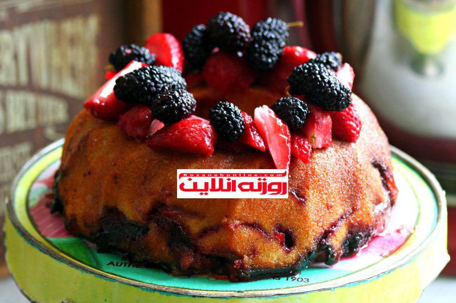 طرز تهیه کیک با میوه های تازه مخصوص تابستان