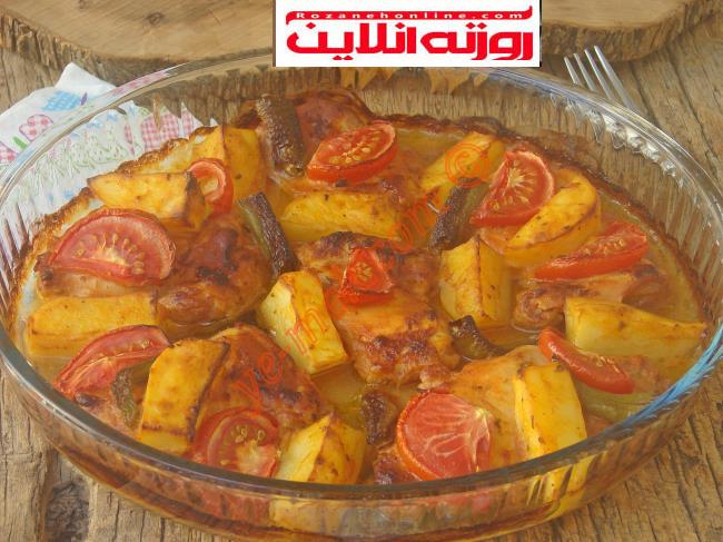 طرز تهیه خوراک مرغ با سس مخصوص در فر با متد ترکیه