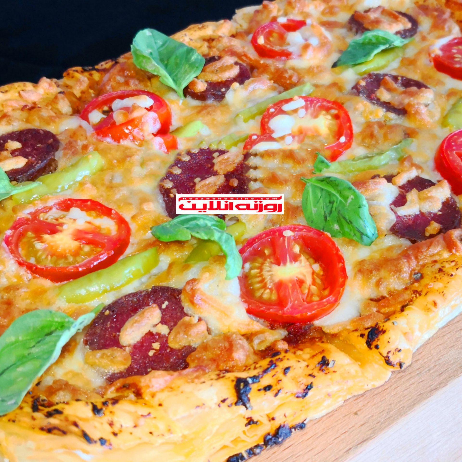 آموزش پیتزا با خمیر میل فوی و پنیر موزارلا