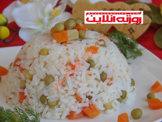آموزش پلوی سبزیجات با متد ترکیه