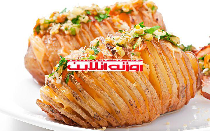 طرز تهیه برگ سیب زمینی با پنیر چدار