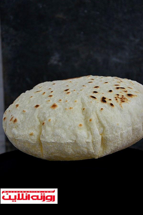 طرز تهیه نان لواش بادکنکی مخصوص ترکیه