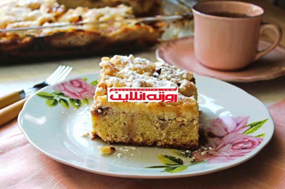 همین الان وقتش است : کیک هلو با استفاده از پنیر