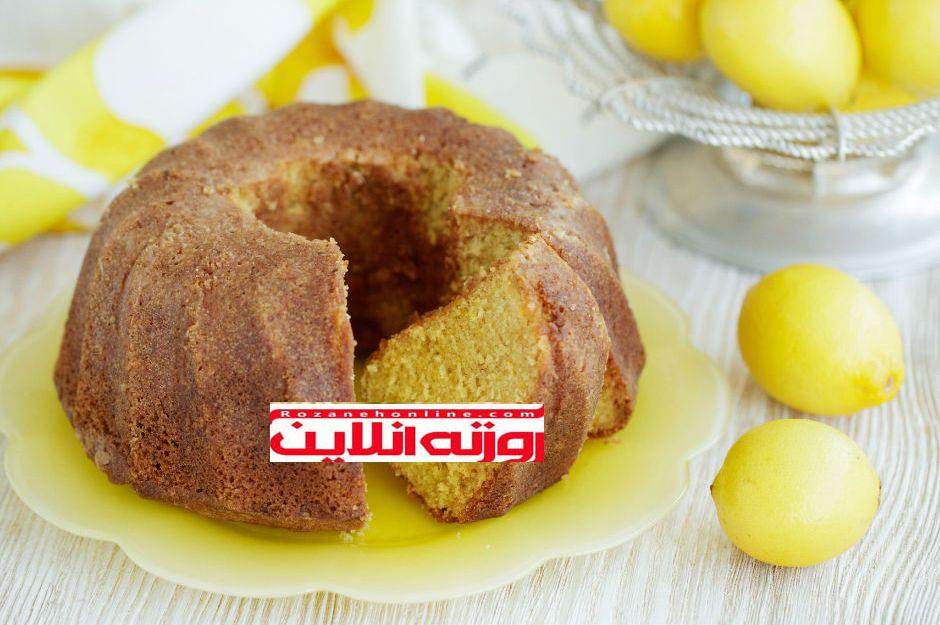 کیک لیمویی با استفاده از آرد سمولینا