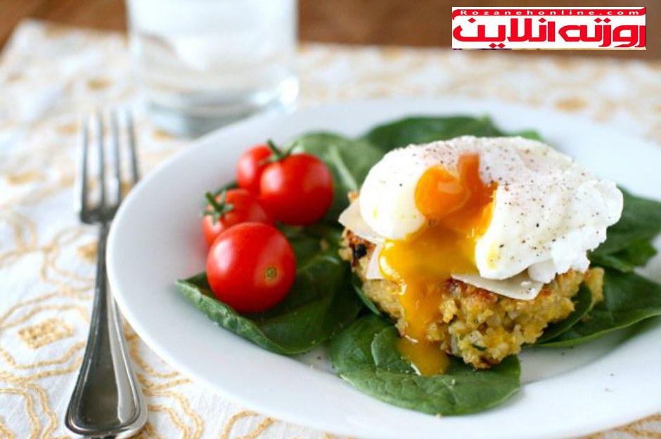 سرشار از پروتئین : کوکوی کینوای تخم مرغی
