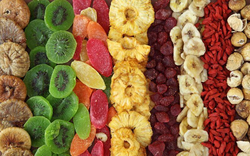 ارزش غذایی میوه های خشک و شرایط نگهداری آن