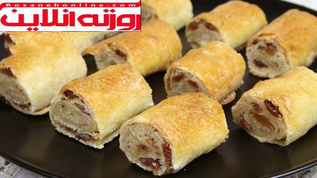طرز تهیه شیرینی نقل کشمشی ترکیه