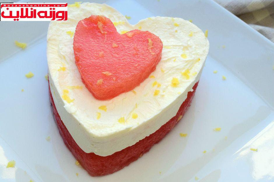 دو طعم در یک جا : چیز کیک با طعم هندوانه