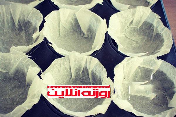 مافین مرمر با استفاده از تمشک