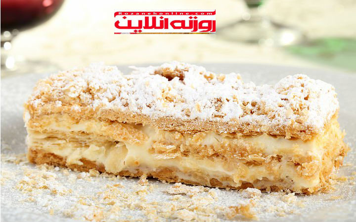 کیک با استفاده از خمیر میلفوی