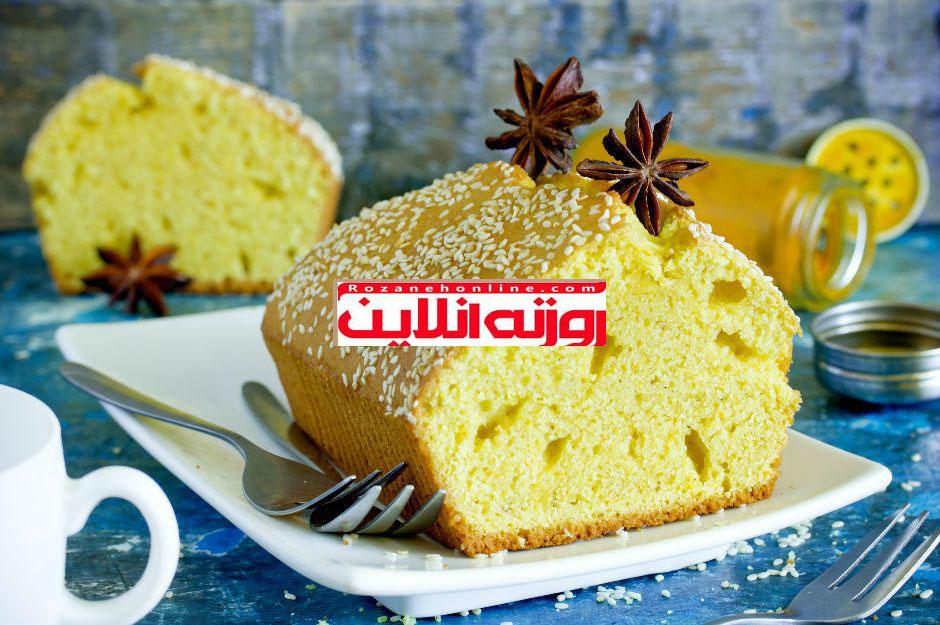 طریقه درست کردن کیک زردچوبه و کنجد با روش بسیار استادانه