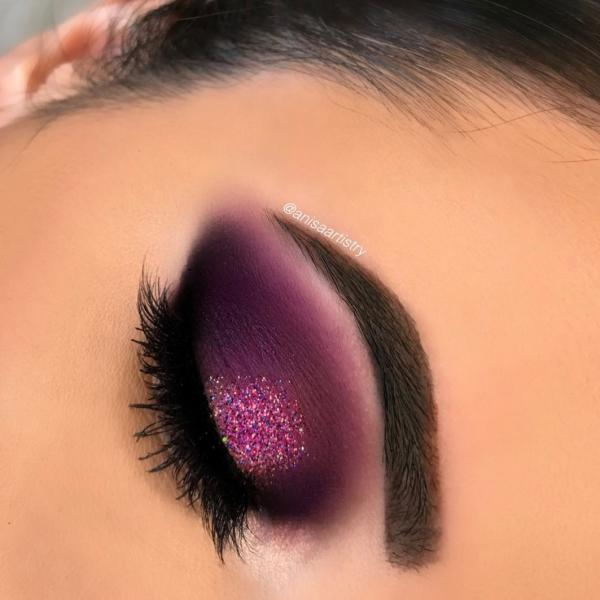 عکس مدل آرایش چشم مشکی 2019