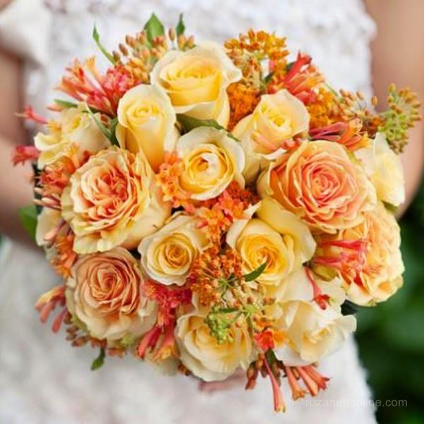دسته گل عروس طبیعی با طرح های شیک و متفاوت