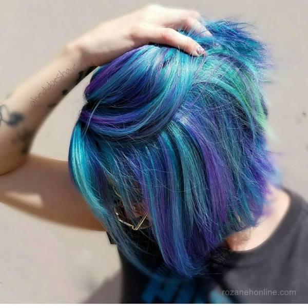 رنگ مو فانتزی جدید - رنگ مو فانتزی 2019 - رنگ مو فانتزی 98