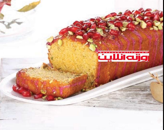 کیک لوف هویج با سس انار سر شار از آنتی آکسیدان و ویتامین