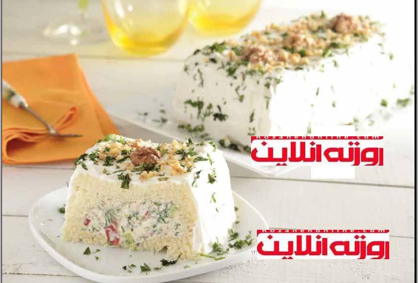 تِرین خیار و گوجه فرنگی : کیک سرد تابستانی