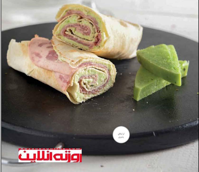 ساندویچ پستوی خامه ای : ترتیلای پنیری