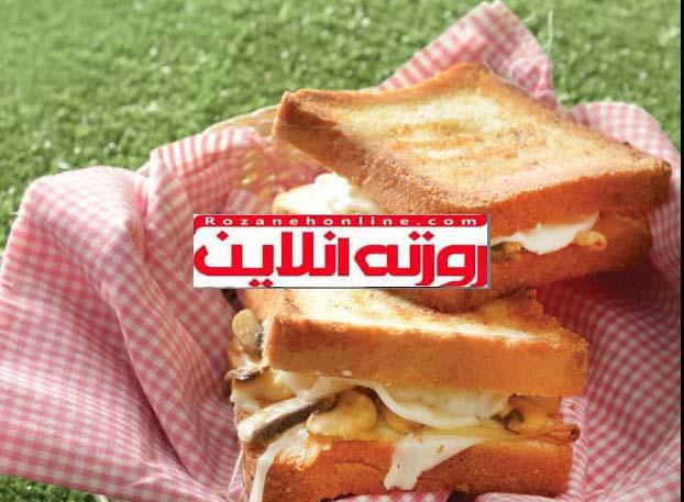 ساندویچ قارچ پنیری , ترکیب همیشه خوشمزه