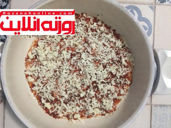 بدون اینکه دست بزنید پیتزا درست کنید
